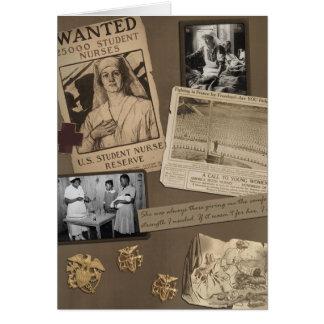 "Vintage ""Nursing"" Scrapbook Card"