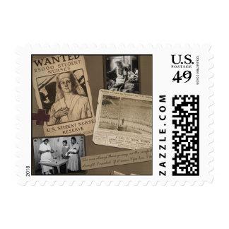 """Vintage """"Nursing"""" Scrapbook Stamp"""