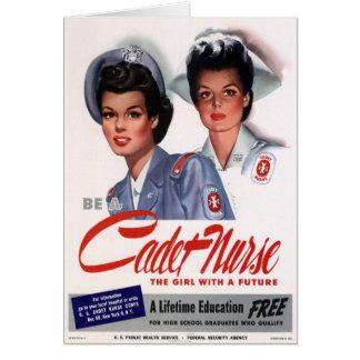 Vintage Nursing Stationery Note Card