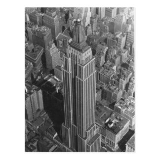 Vintage NYC Aerial View Empire St Bldg McCreey s Post Card