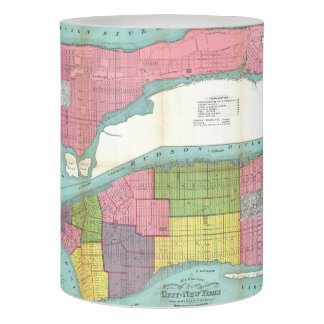 Vintage NYC Fire Department Map (1871) Flameless Candle