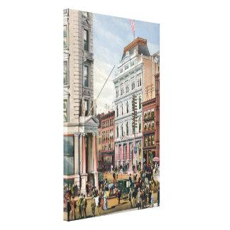 Vintage NYC Stock Exchange Illustration (1882) Canvas Print