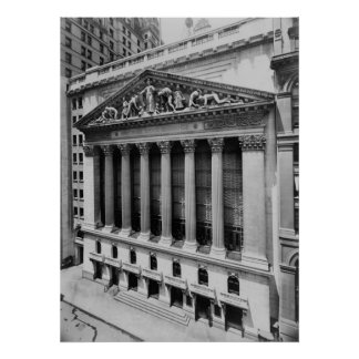 Vintage NYC Stock Exchange Photograph (1908) Poster