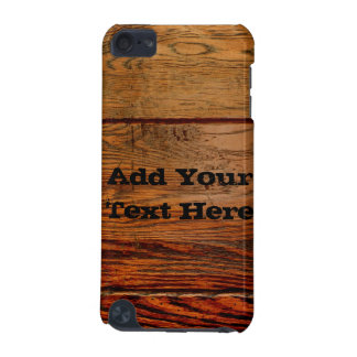 Vintage Oak Rustic Country Personalize iPod Case