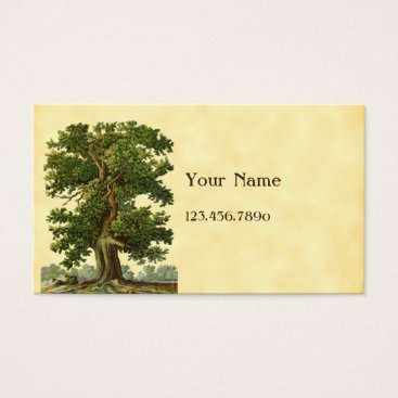 Vintage Oak Tree Custom Business Card