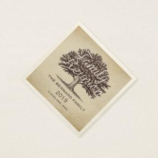 Vintage  Oak Tree Family Reunion Personalized Napkin