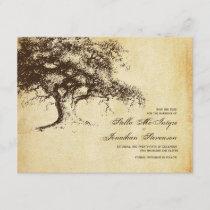 Vintage Oak Tree Save the Date Wedding