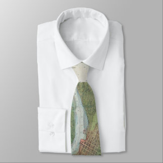 Vintage Oakland and San Antonio Creek Map (1857) Tie