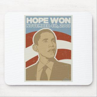 Vintage Obama ganado esperanza Tapete De Ratón