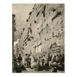 Vintage occidental de Buraq Jerusalén de la pared  Tarjetas Postales