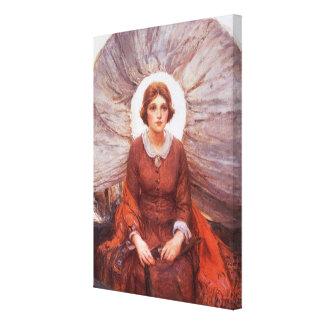 Vintage occidental, Madonna de la pradera de Lona Envuelta Para Galerias