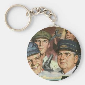 Vintage Occupations, Patriotic Patriotism Proud Keychains