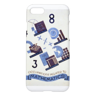 Vintage Occupations Related to Mathematics iPhone 7 Case