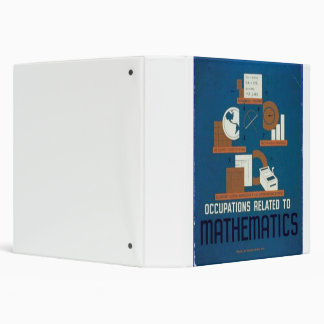 Vintage Occupations Related to Mathematics Poster 3 Ring Binder