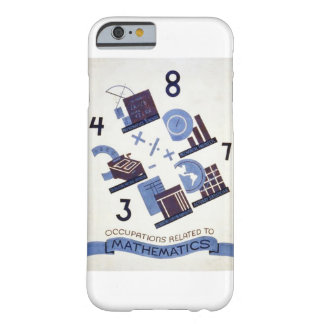 Vintage Occupations Related to Mathematics Poster Barely There iPhone 6 Case