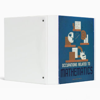 Vintage Occupations Related to Mathematics Poster Binder