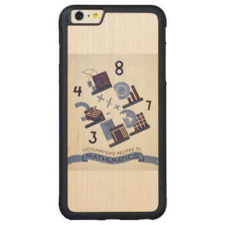 Vintage Occupations Related to Mathematics Poster Carved® Maple iPhone 6 Plus Bumper