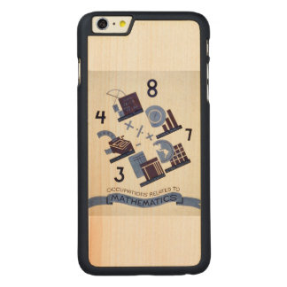 Vintage Occupations Related to Mathematics Poster Carved® Maple iPhone 6 Plus Slim Case