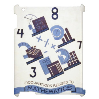 Vintage Occupations Related to Mathematics Poster Case For The iPad