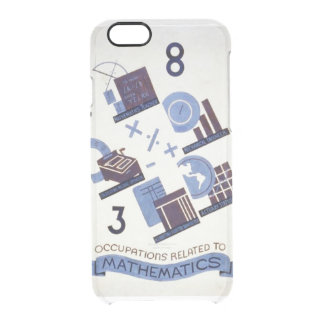 Vintage Occupations Related to Mathematics Poster Clear iPhone 6/6S Case