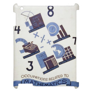Vintage Occupations Related to Mathematics Poster Cover For The iPad 2 3 4