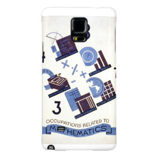 Vintage Occupations Related to Mathematics Poster Galaxy Note 4 Case