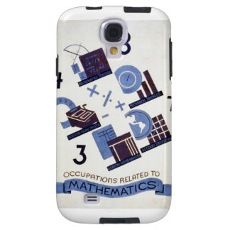 Vintage Occupations Related to Mathematics Poster Galaxy S4 Case
