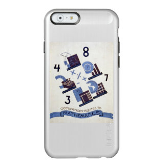 Vintage Occupations Related to Mathematics Poster Incipio Feather® Shine iPhone 6 Case