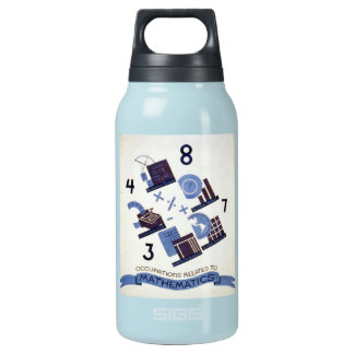 Vintage Occupations Related to Mathematics Poster Insulated Water Bottle
