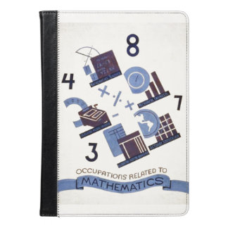 Vintage Occupations Related to Mathematics Poster iPad Air Case