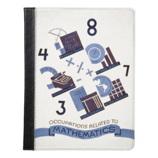 Vintage Occupations Related to Mathematics Poster iPad Case