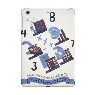 Vintage Occupations Related to Mathematics Poster iPad Mini Cases
