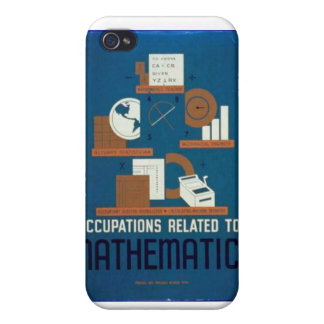 Vintage Occupations Related to Mathematics Poster iPhone 4/4S Case