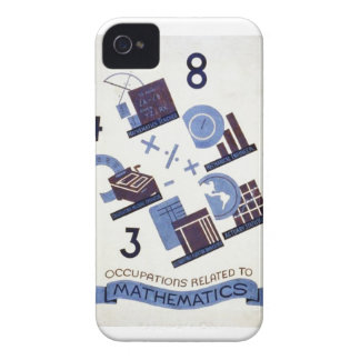 Vintage Occupations Related to Mathematics Poster iPhone 4 Case