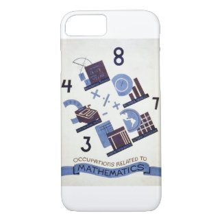 Vintage Occupations Related to Mathematics Poster iPhone 7 Case