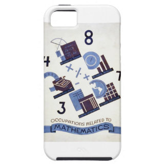 Vintage Occupations Related to Mathematics Poster iPhone SE/5/5s Case