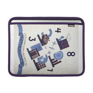 Vintage Occupations Related to Mathematics Poster MacBook Air Sleeve