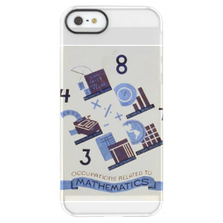Vintage Occupations Related to Mathematics Poster Permafrost® iPhone SE/5/5s Case