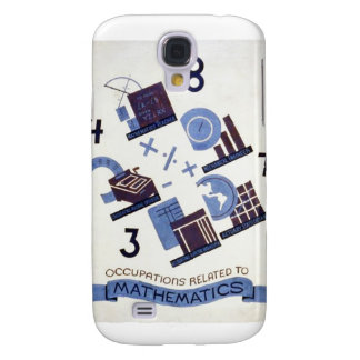Vintage Occupations Related to Mathematics Poster Samsung Galaxy S4 Case