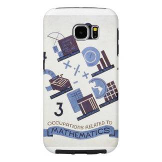 Vintage Occupations Related to Mathematics Poster Samsung Galaxy S6 Cases