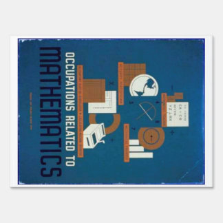 Vintage Occupations Related to Mathematics Poster Sign