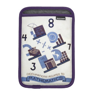 Vintage Occupations Related to Mathematics Poster Sleeve For iPad Mini