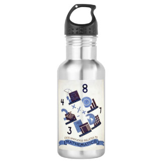 Vintage Occupations Related to Mathematics Poster Stainless Steel Water Bottle