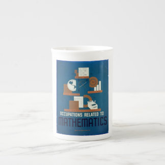 Vintage Occupations Related to Mathematics Poster Tea Cup