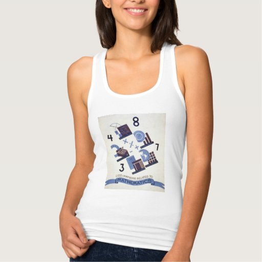 Vintage Occupations Related to Mathematics Poster Tshirts Tank Tops, Tanktops Shirts