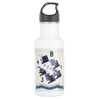 Vintage Occupations Related to Mathematics Poster Water Bottle
