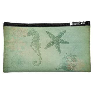 Vintage Ocean Animals and Seashells Cosmetics Bags