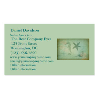 Vintage Ocean Animals and Seashells Business Cards