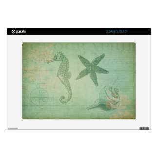 Vintage Ocean Animals and Seashells Decal For Laptop