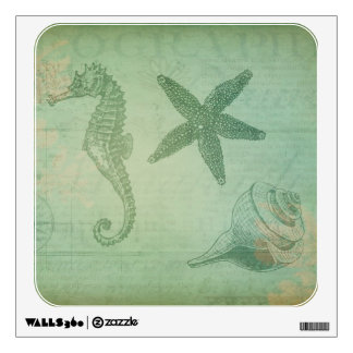 Vintage Ocean Animals and Seashells Wall Decals